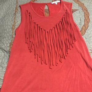 Fringe maroon/red shirt!